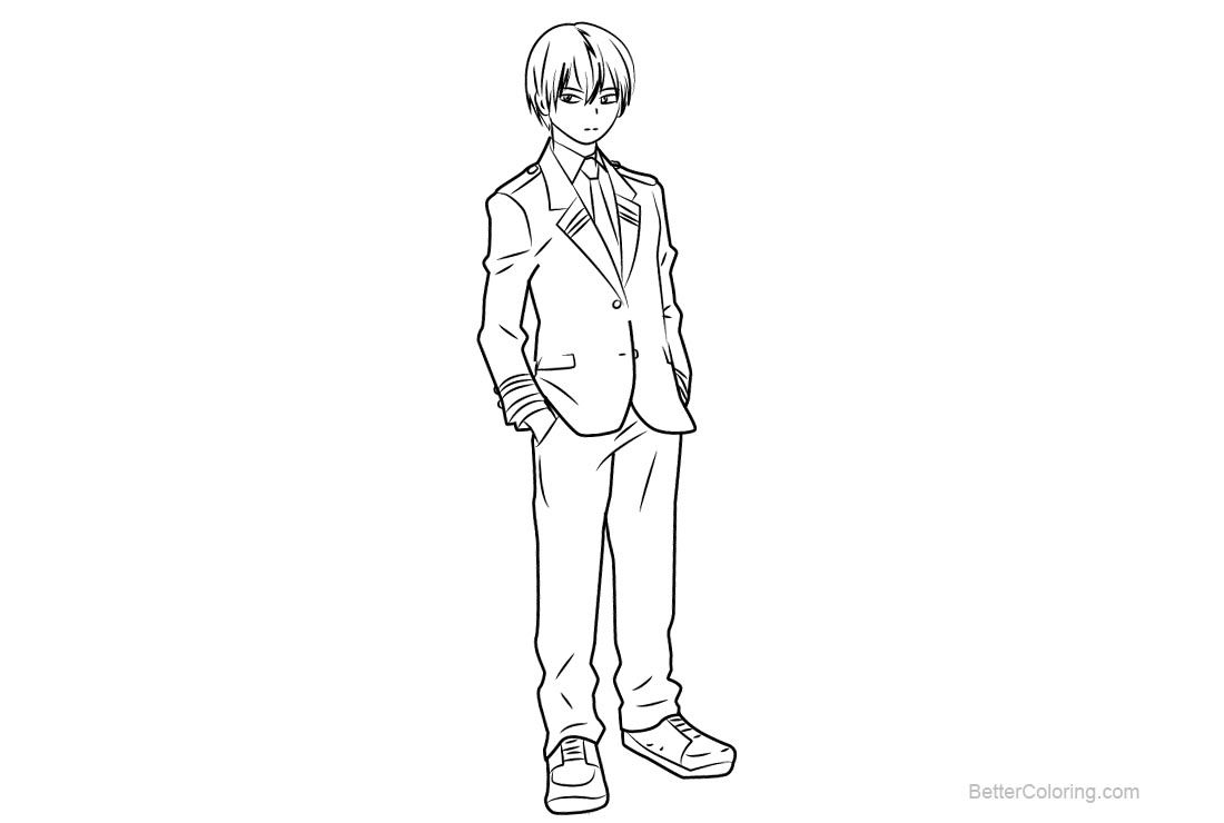 Free My Hero Academia Coloring Pages Shouto Todoroki Printable For Kids And Adults You Can Download And Print Coloring Pages Paw Patrol Coloring Pages My Hero