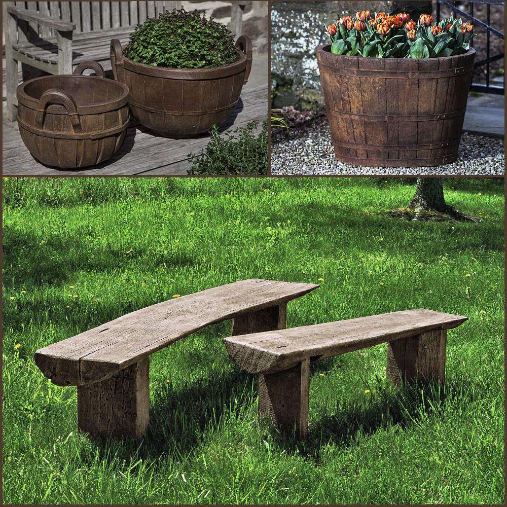 Remarkable Kinsey Garden Decor Farmhouse Country Bench Planters Patio Theyellowbook Wood Chair Design Ideas Theyellowbookinfo