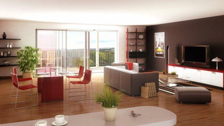 soggiorno e zona cucina combinati, pavimento in parquet e ampia ...