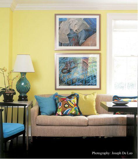 Yellow-blue colors | Home ideas | Pinterest