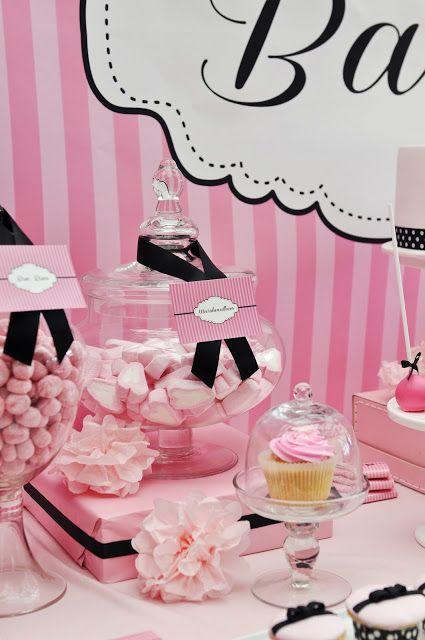 Pink And Black Baby Shower Celebrate Baby Girl Shower Pinterest