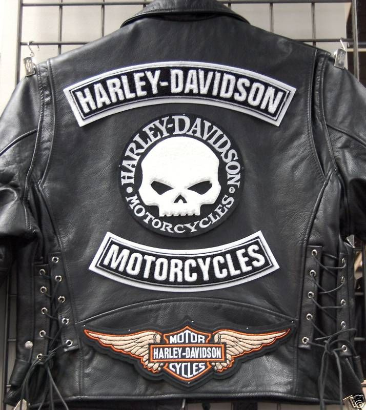 Leather Jacket Harley Davidson Patches It S A Harley Thing