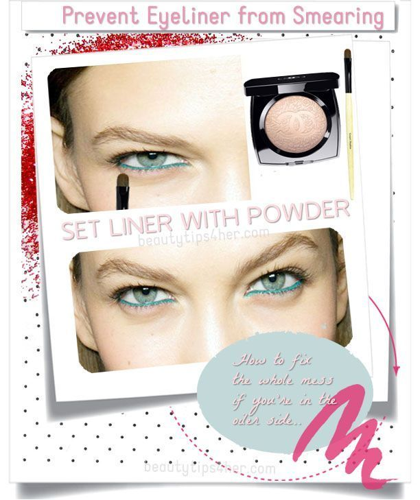 If you have problems with your lower eyeliner traveling down the lids, you should know that there i