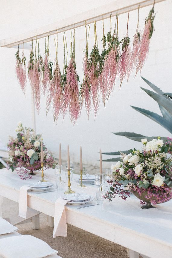 Spring Wedding Ideas In Apulia Outdoor Wedding With Hanging Floral Decor Wedding Table Settings Pinterest Spring Wedding Weddingideas And Wedding