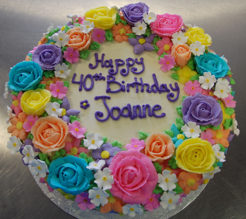 Our Spring Flower Birthday Cake