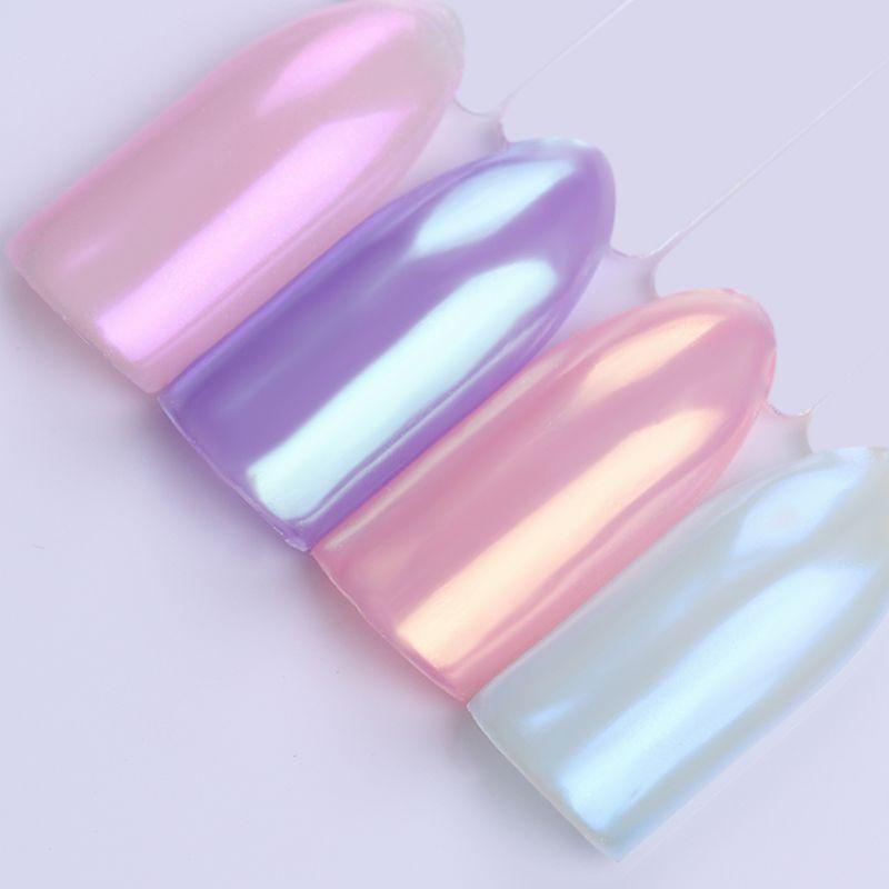 1 Sirena Caja de Uñas Glitter Powder Pretty Gradiente Láser Pigmento ...