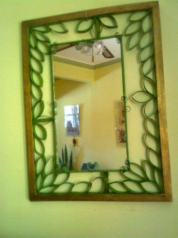 El taller de ire marco para espejo de irelda diy - Espejos para manualidades ...