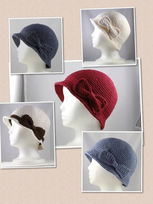 A Collage of Chemo Cloche Hats from Andrea Murray Goo. Andrea\'s hats ...