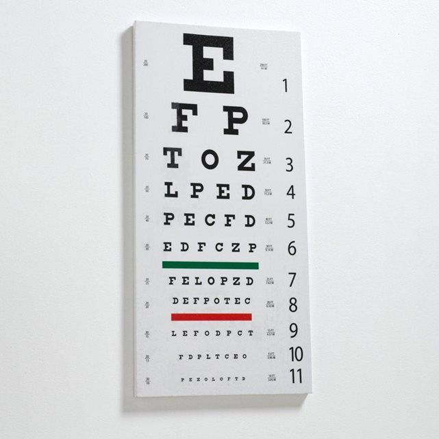 Acilia Eye Chart Canvas Fun Eye Chart Just Like At The