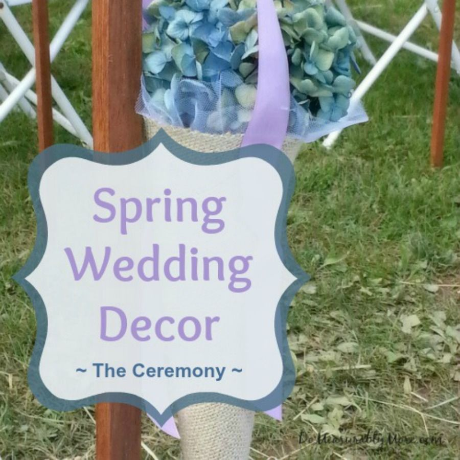 Wedding Ideas On A Tight Budget: Charming Country Wedding Decor - The Ceremony