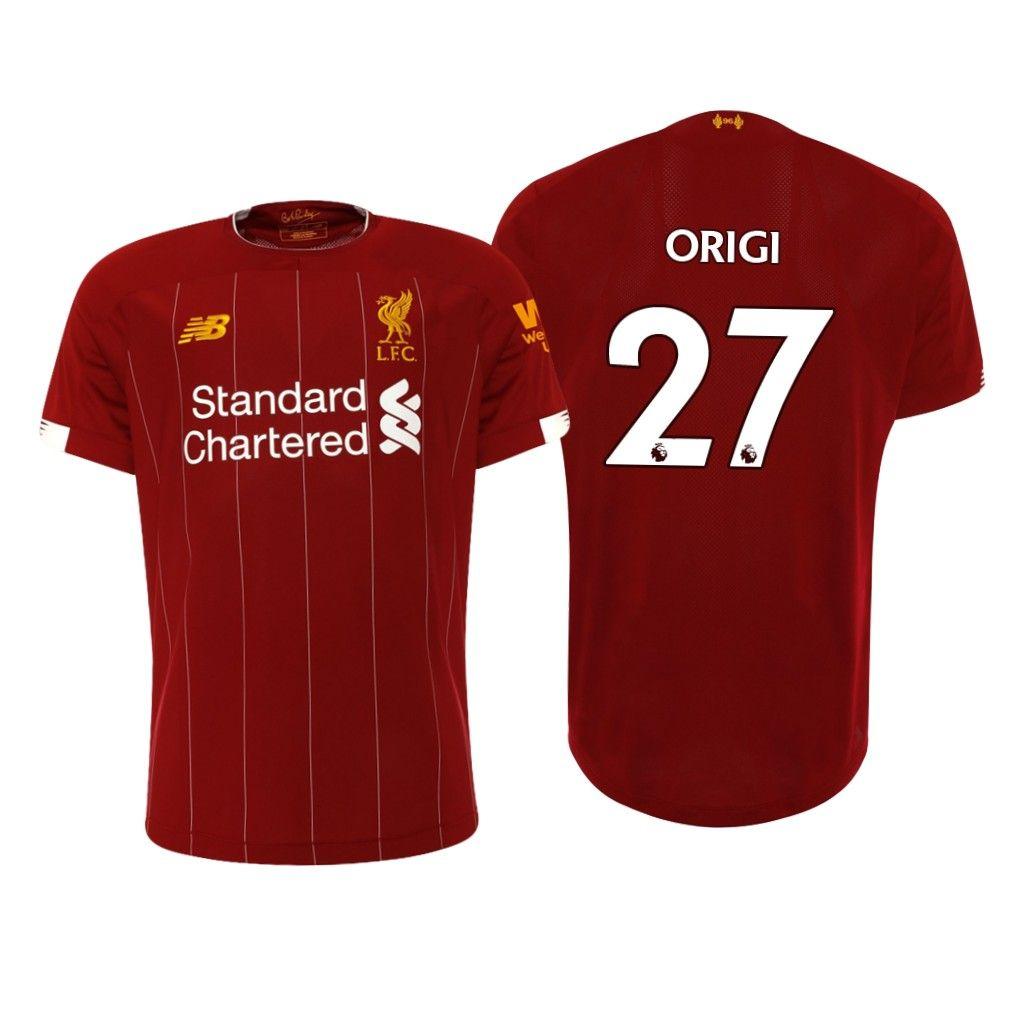 27 Divock Origi 2019 2020 Liverpool Home Soccer Jersey Shirt Soccer Jersey Jersey Shirt Liverpool Home