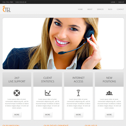 CTEL Free #Responsive #HTML5 #CSS3 #Mobileweb Template | Corporate ...