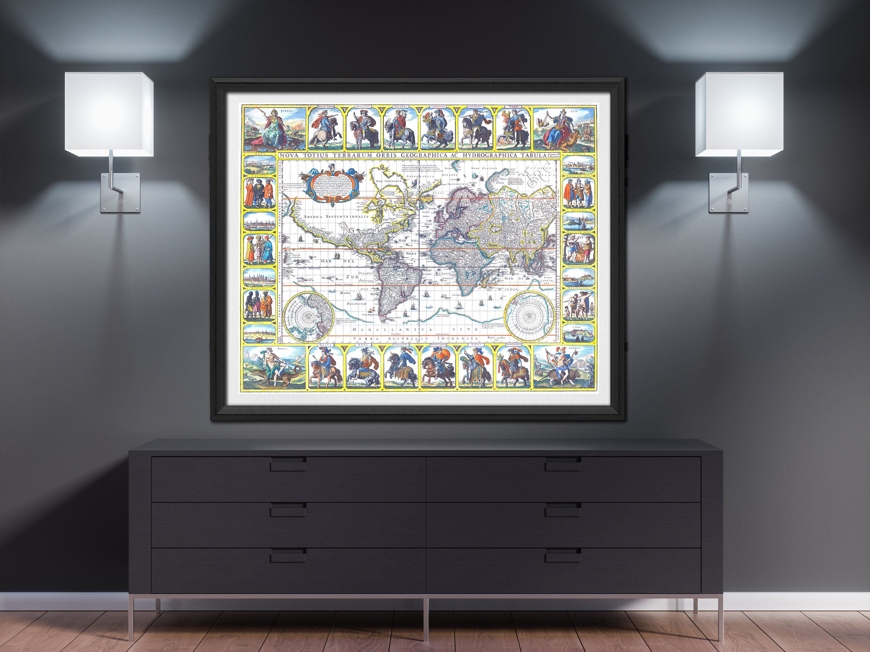 World map print 1652 world map poster world map wall art large world world map print 1652 world map poster world map wall art large world map vintage world map world map room decor push pin worldmap mappemonde gumiabroncs Choice Image