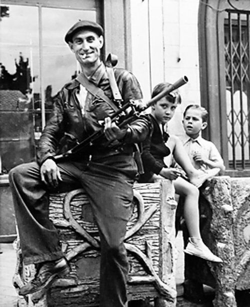 A member of the French Resistance.    Châteaudun, France - 1944