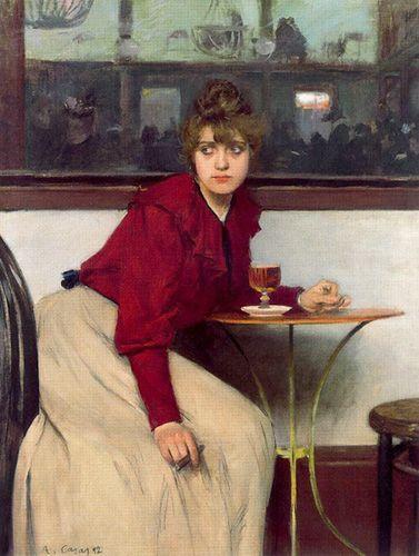 Retrato de Madeleine de Boisguillaume. El ajenjo - Ramón Casas