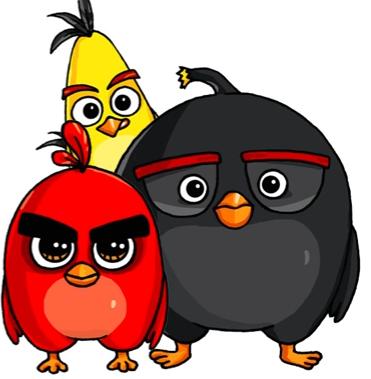 Angry Birds Desenhos Kawaii