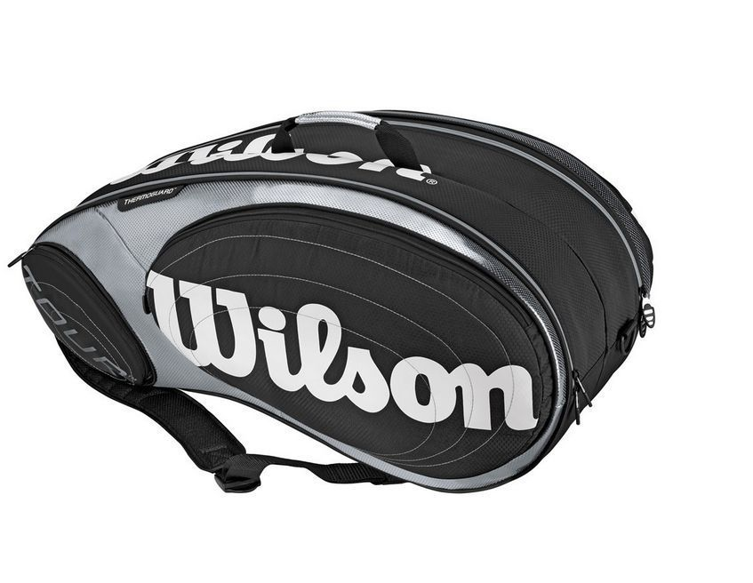 Tennis Bag Racquet 9 H Racket Babolat Wilson Case Black