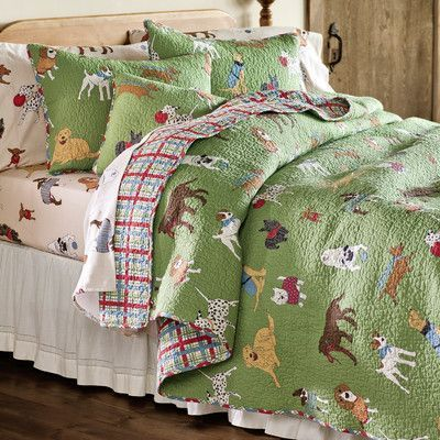 Plow & Hearth King Doggone Good Time Quilt Set with Shams ... : plow and hearth quilts - Adamdwight.com