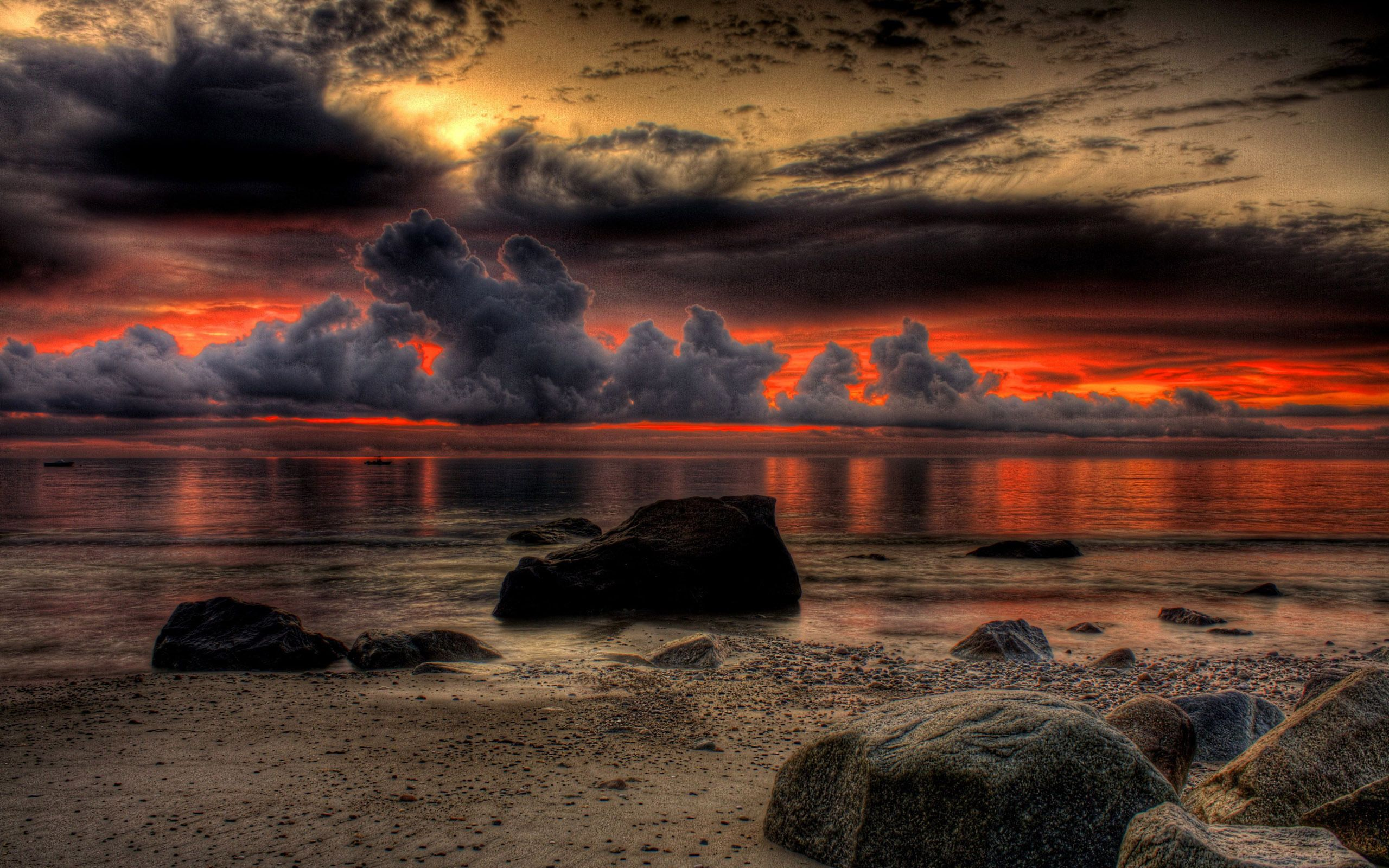 Download Wallpaper 1920x1080 Sea Sky Sunset Clouds Rocks Surf Full Hd 1080p Hd Background Seascape Photography Water Sunset Sunset
