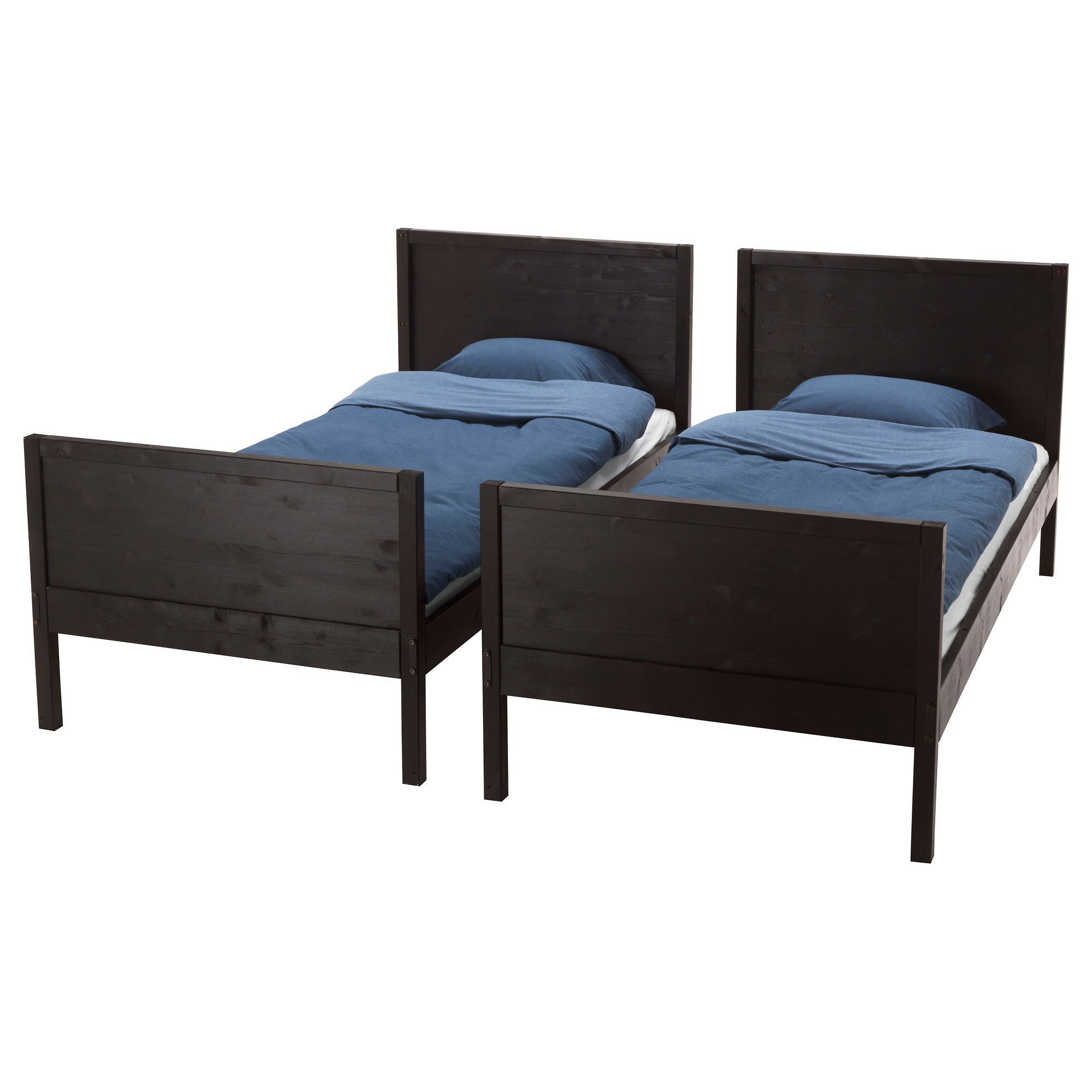 Best Ikea Norddal Bunk Bed Frame Black Brown Bed Frame 400 x 300