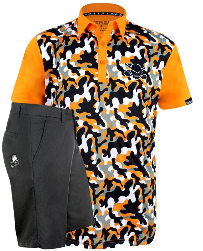 fd33cbcf ProCool Men's Camo shirt w/ black golf shorts - ships FREE & in time for  Christmas - #golf #shirts #mensfashion #golfclothing #skulls #tattoo ...