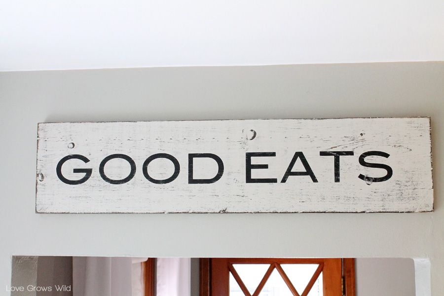 Decorative Wooden Kitchen Signs Fascinating How To Create Distressed Signs  Distressed Signs Wood Signs And Review