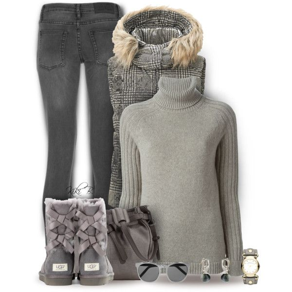 Comfy Gray by kiki-bi on Polyvore featuring See by Chloé, Uniqlo, Cheap Monday, UGG Australia, Kooba, Marc by Marc Jacobs, Vivien Frank Designs and Alexander Wang