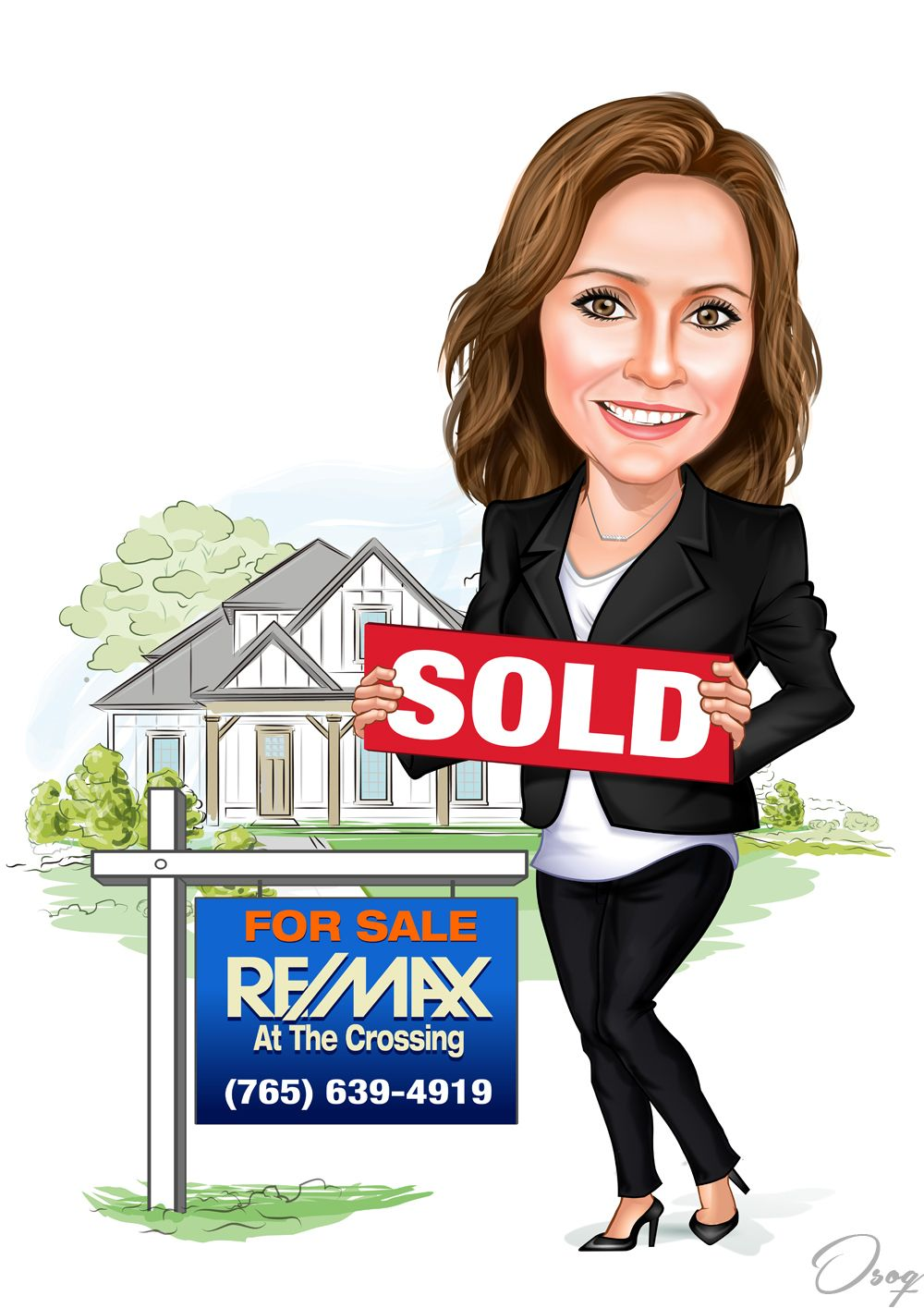 Cartoon House Sign Cartoon House Real Estate Ads Real Estate