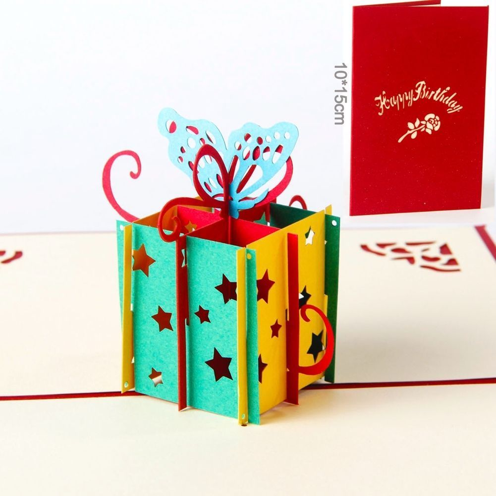 D pop up greeting cards handmade birthday gift for her him best