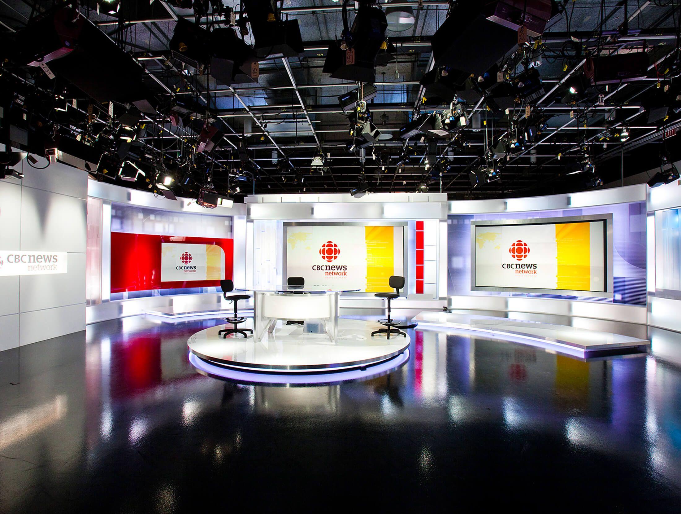 CBC News Network Artform Tv set design, Tv decor