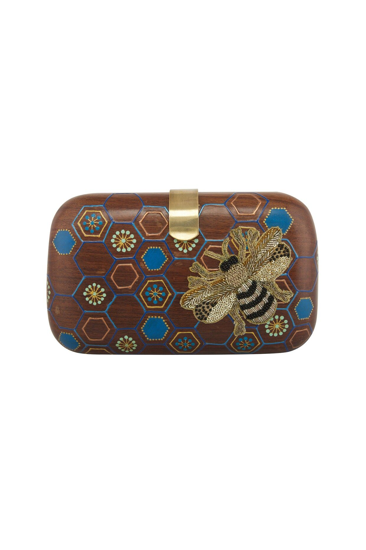 Fable Womens//Ladies Vintage Bee Embroidered Small Wallet