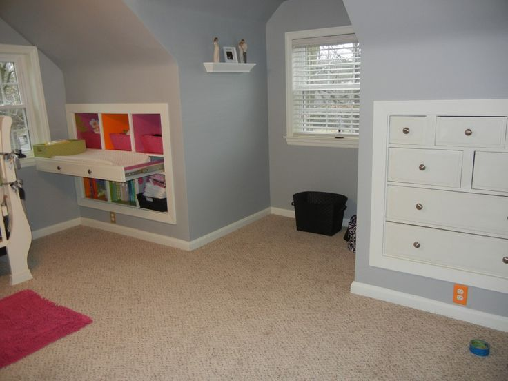 Image Result For Attic Room Bedroom Knee Wall Ideas Wall Storage Living Room Spaces Knee Wall