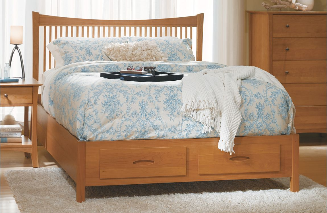 Grafton Spindle Bed Low Footboard | Vermont Made Furniture | VMF Bed ...