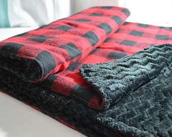 Red Flannel Oversized Baby Blanket  63b92bbe5