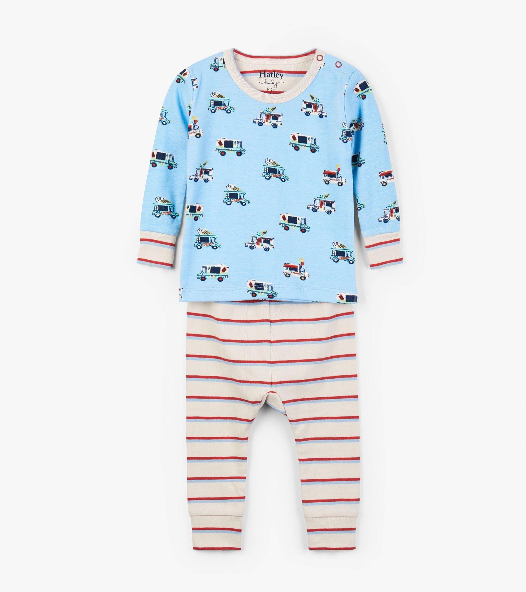 Ice Cream Trucks Organic Cotton Baby Pajama Set