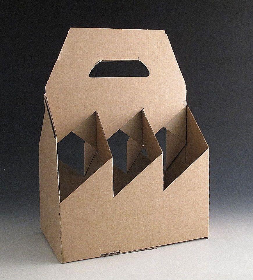 20 Cardboard Bottle Holder Carrier Gift Boxes For 6 Bottles Wine Beer Divider Caja De Cerveza Botellas De Cerveza Envasado De Huevos