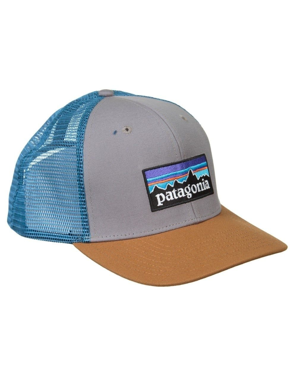 ffb37a976ff118 Patagonia P-6 Logo Trucker Hat - Feather Grey/Bear Brown | Hats ...