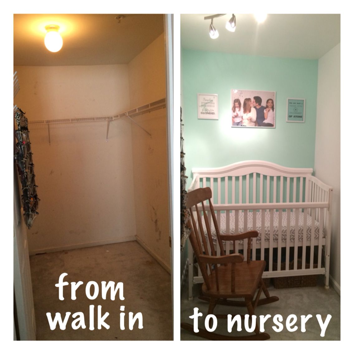 Convert A Walk In Closet To A Nursery #walkin #closet #nursery #