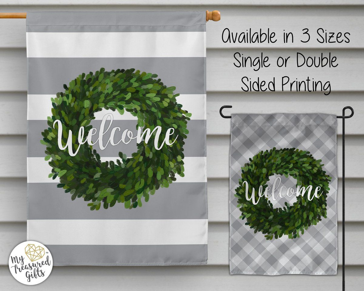 Welcome Garden Flag Or House Flag House Flags Garden Flags