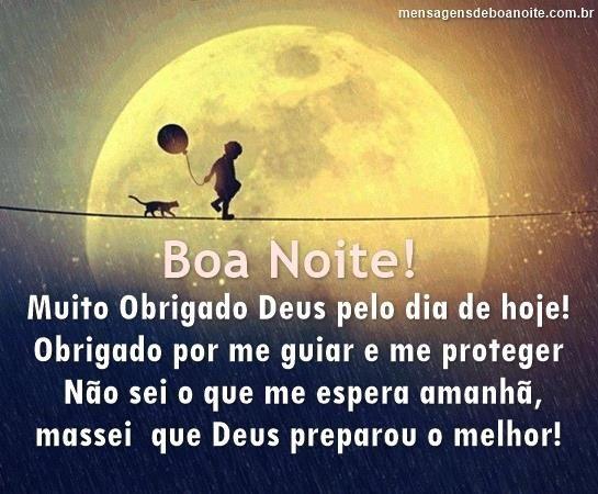 Mensagem De Agradecimento A Deus Noite