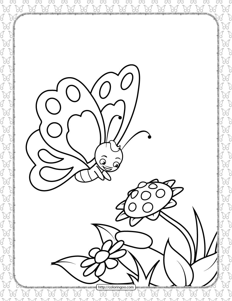 Printable Butterfly Pdf Coloring Pages 04 In 2021 Butterfly Printable Butterfly Coloring Page Coloring Pages [ 1229 x 950 Pixel ]
