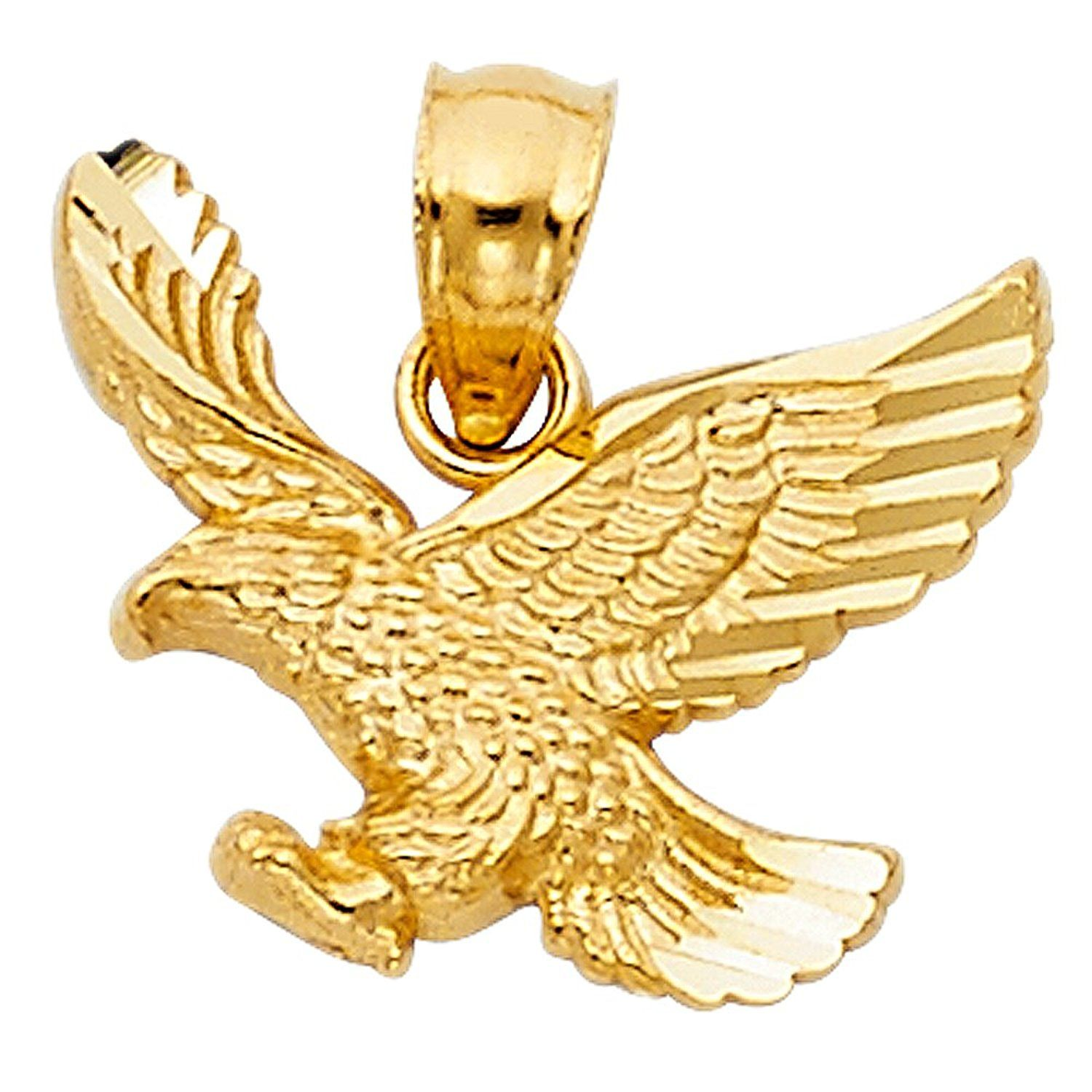 gold jewelry mens watches diamond eagle silver accent overstock free shipping product today s palmbeach pendant over men