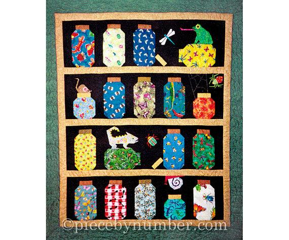 Escaping Bugs Bottle Quilt pattern, paper pieced quilt patterns ... : jar quilts - Adamdwight.com