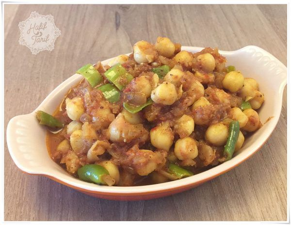 Photo of Indian food, chickpeas, chickpea masala
