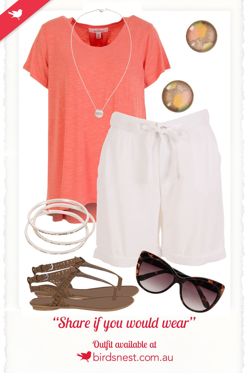 Outfit Inspiration - This cool, calm, and casual outfit is perfect for the summer months. Hop in to this, and indulge in some well deserved R&R over the holiday break.