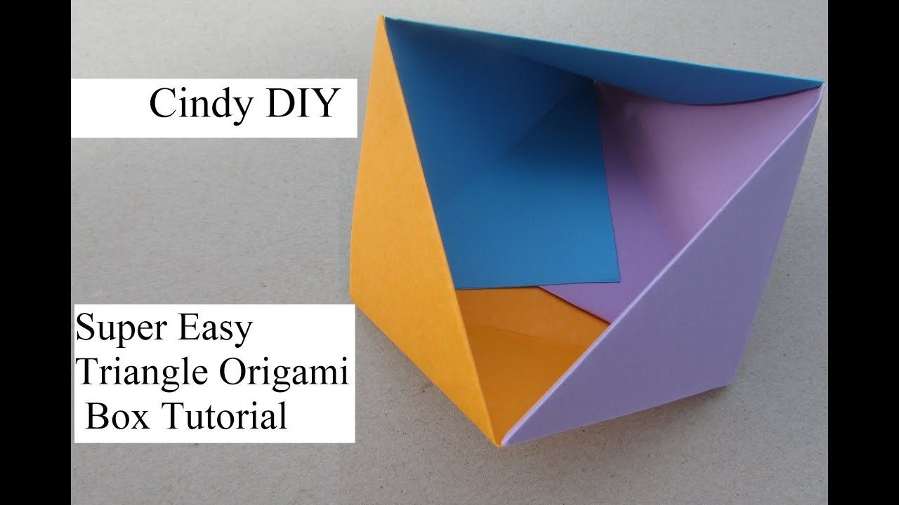 Modular Origami Triangle Box Instructions - YouTube | 720x1280