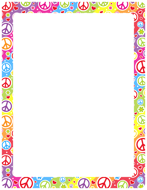 Printable Peace Sign Border Free GIF JPG PDF And PNG Downloads At Pagebordersorg Download EPS AI Versions Are Also