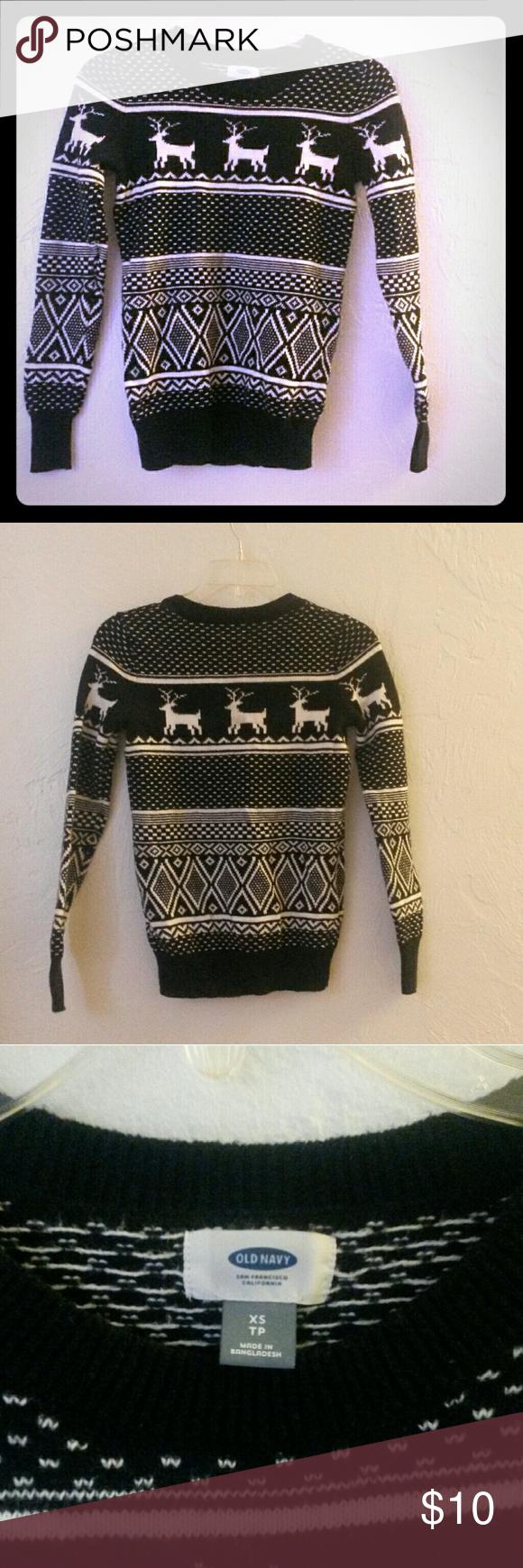 Old Navy San Francisco California Sweater Reindeer/Christmas Sweater ...