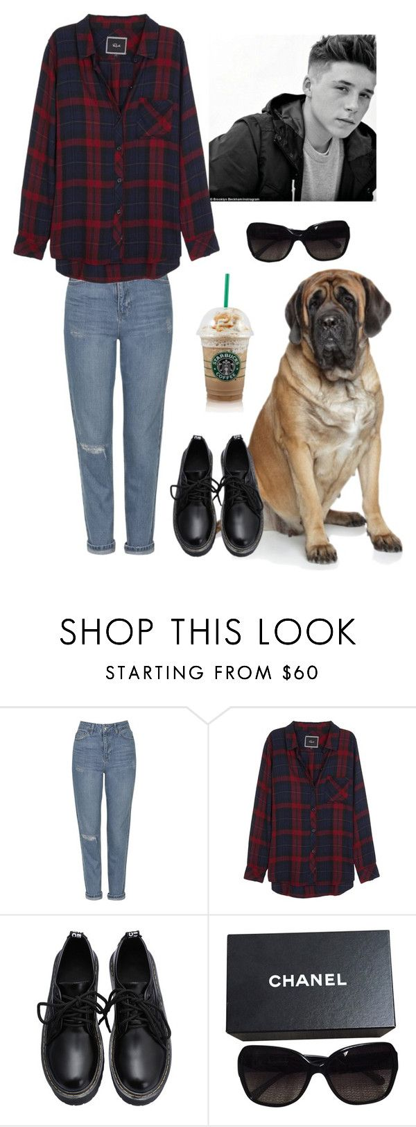 """Sans titre #1556"" by noonewilleverknow ❤ liked on Polyvore featuring Topshop, Rails and Chanel"