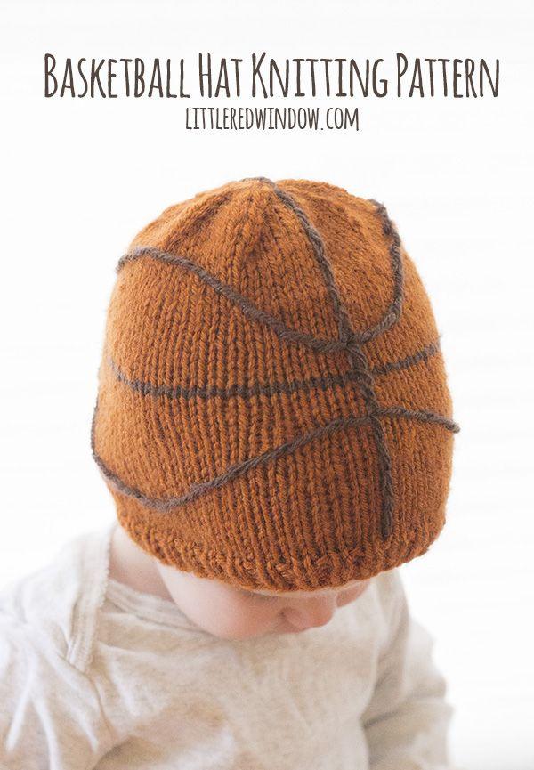 Basketball Hat Knitting Pattern